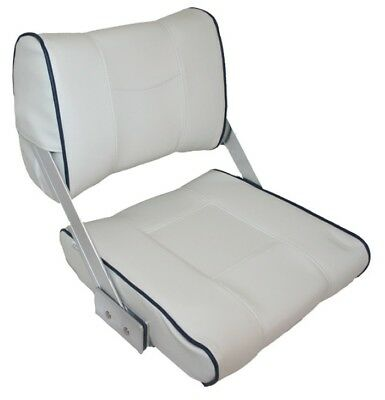 Flip Back Padded Boat Seats Seat Marine Deluxe Seating Ivory white