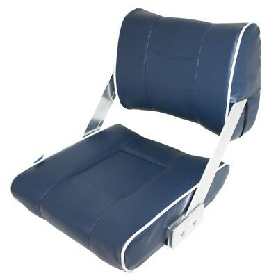 Flip Back Padded Boat Seats Seat Marine Deluxe Seating Blue