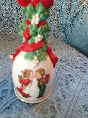 "Discounted Price Nos 1989 Avon Christmas ""under The Mistletoe"" Bell"