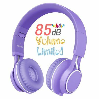 Kids Headphones, HD30 Volume Limiting Children Headset with Microphone for Girls