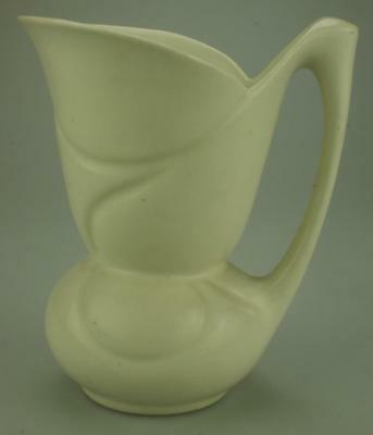 Antique 1930's Fieldings Crown Devon Art Deco Milk Jug in off White TB9