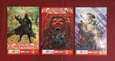 CATACLYSM ULTIMATE COMICS: THE ULTIMATES Lot #1-3 NM- (Marvel 2014) FIALKOV