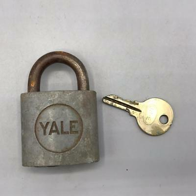 Vintage Yale Brass Padlock Lock with Key