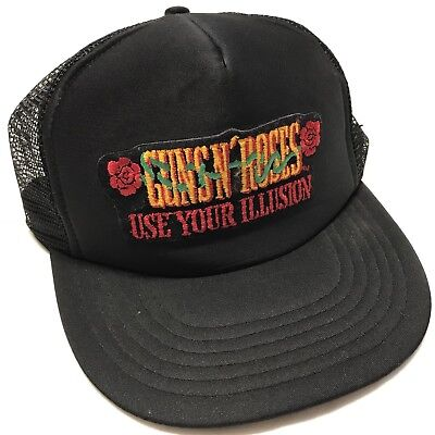 Vintage GUNS N' ROSES Use Your Illusion Mesh Trucker Snapback Hat