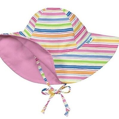 Baby Girl SUN HAT iPlay Swimming SunScreen Protection Pink Stripes  - 6-18mos