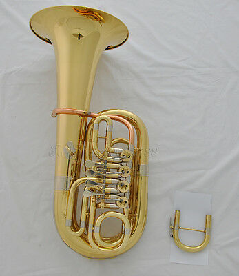 Prof. Rotary C tone / Bb gold Euphonium rose brass leadpipe Tube Changing tuba