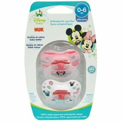 NUK Disney Baby Minnie Mouse Orthodontic Pacifier 0-6 Months BPA FREE DUMMIES