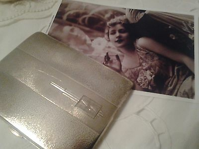 Antique  .925 Sterling Silver Cigarette Case By Joseph Gloster Ltd. 146 Grams