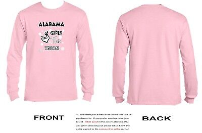 Alabama Girls Love Their Trucks Long Sleeve - 3041