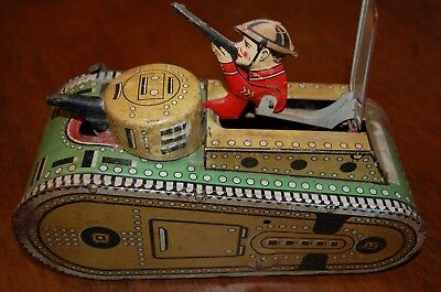 Vintage Marx Tin Doughboy Tank Made in USA Antique Toy