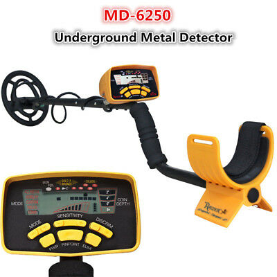 MD-6250 Metal Detector with Headphones Rain Cover Waterproof Coil Pro AR-7
