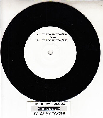 """JOHNNY DIESEL Tip Of My Tongue 7"""" 45 rpm record + jukebox title strip RARE!"""