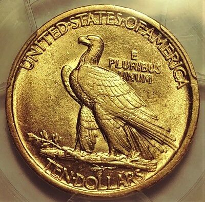 1907 High Relief $10 Gold Indian Eagle Pcgs Au-58 Rare Date
