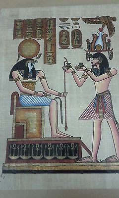Egyptian Painting on Rice Paper Framed and Signed