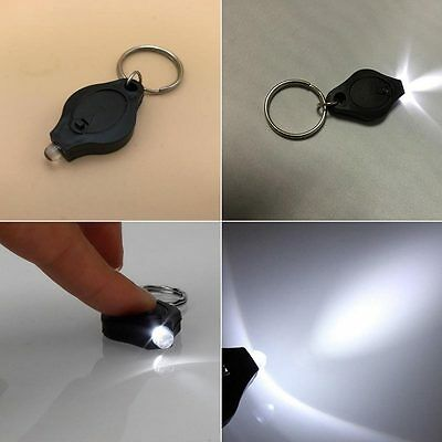 5x Bright Mini Keychain LED Light Lamp Key Ring Flashlight Torch Hot