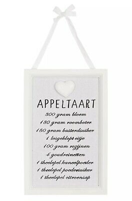 Clayre eef Wooden Image New Nostalgia Shabby 24x16cm Appeltaart Cottage
