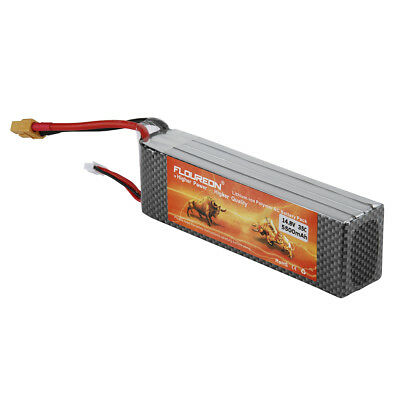 Floureon 6S 22.2V 4500mAh 45C with T Plug LiPo Battery Pack for RC Evader DE