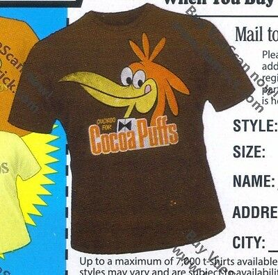 Cocoa Puffs Adult XL T-shirt cereal General Mills Cuckoo Bird Sonny Target GM te