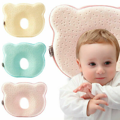 Infant Baby Soft Pillow Memory Foam Support Prevent Flat Head Anti-roll Cushion