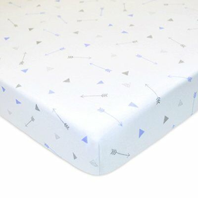 American Baby Company Printed 100% Cotton Jersey Knit Fitted Crib Sheet for Stan