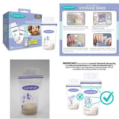 Lansinoh Breastmilk Storage Bags 100 Count Bpa Free & Bps Free Strong  New