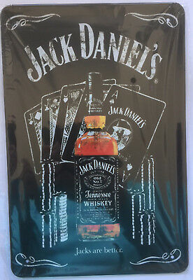 RETRO Jack Daniels-Blechschild ca 30x20cm Neu & OVP Poker Party