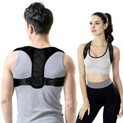 Adjustable Posture Corrector Back Slouch Support Brace Shoulder Belt Women Men
