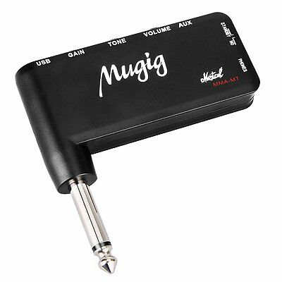 Mugig Guitar Amp Mini Guitar Amp for Heavy Metal Music Rechargeable Portable