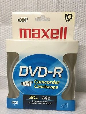 Maxell Dvd-R Camcorder Recording Discs 30 Min 1.4 Gb 10 Pack Dvd-R Compatible
