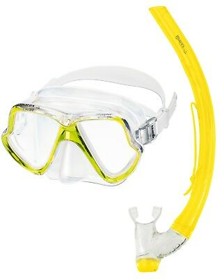 Mares ZEPHIR Adults Wide View Twin Lens MASK SNORKEL SET - YELLOW