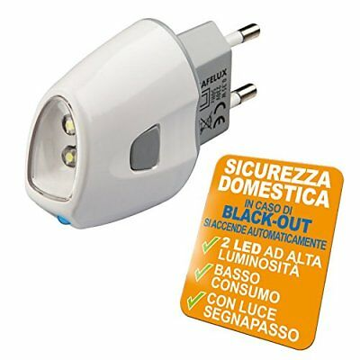 Poly Pool PP0775 Lampada d'Emergenza Safelux a LED Anti Black Out con Spina JP6W