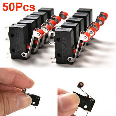 50Pcs Kw12-3 PCB Microswitch Hot Micro Roller Lever Arm Open Close Limit Switch