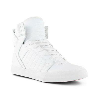 Supra Skytop Shoes - White / White / Red