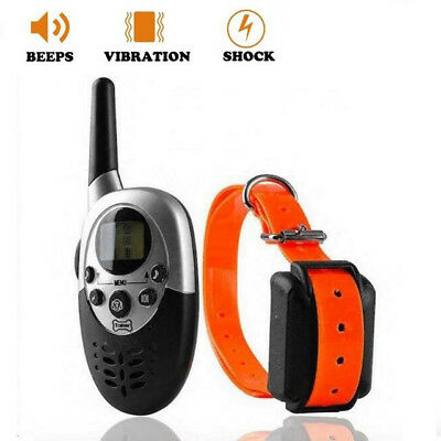Rechargeable 1000M LCD Electric Shock Pet Dog Training Remote Control E-Collar