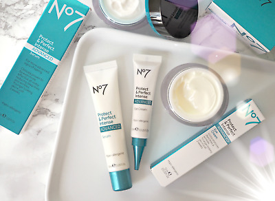 No7 protect and perfect intense advanced serum or eye cream or hand cream