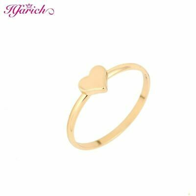 Tiny Brass mid heart knuckle ring pinky rings