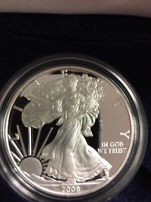 2008 American Silver Eagle Proof with Original Box and COA
