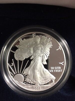 2011 American Silver Eagle Proof with Original Box and COA