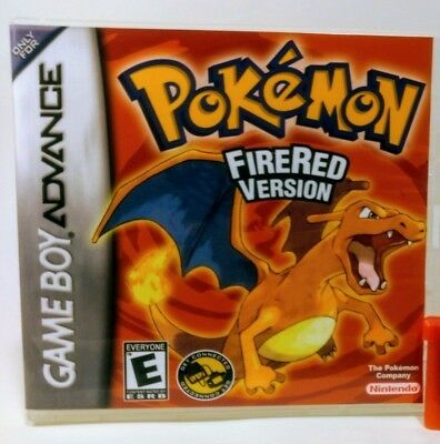 Pokemon Fire Red Version GBA Custom Replacement CASE (*NO GAME*)