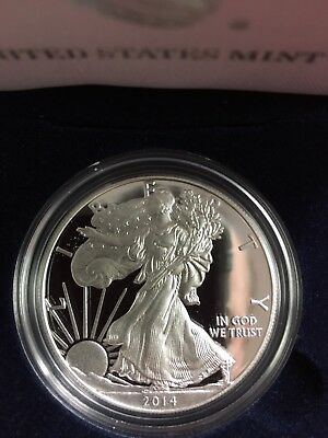2014 American Silver Eagle Proof with Original Box and COA
