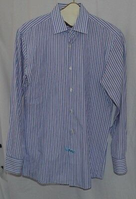 129c4b68c HUGO BOSS BUTTON Down Shirt Size 15 1/2 32/33 100% Cotton French ...