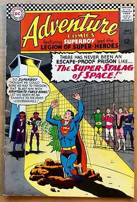 ADVENTURE COMICS #344 (1966) DC Silver Age Superboy & Legion of Super-Heroes VG-