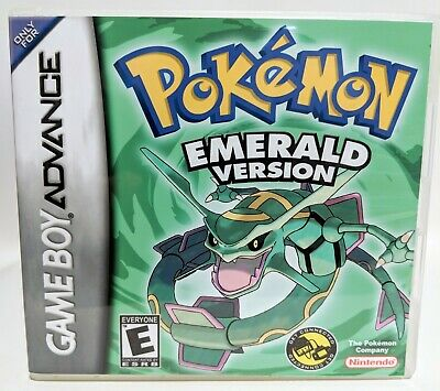 Pokemon Emerald Version GBA Custom Replacement CASE (*NO GAME*)