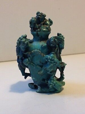 Antique Chinese rare  Turquoise carved snuff bottle 19TH (m1757)