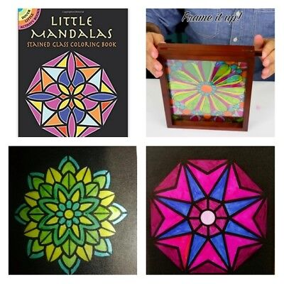 Adult Coloring Books For Women Men Kids Small Mandala Stained Glass Anti Stress