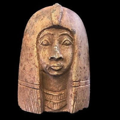 Egyptian God Bust Large Size, Late Period 664 - 332 Bc