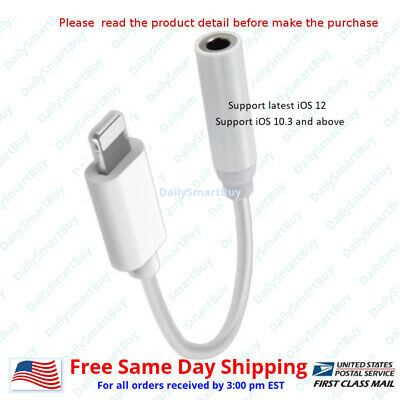 3.5 mm Aux Adapter Lightning Headphone For iPhone 7  8  Plus X Audio Jack Cable