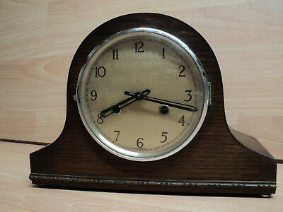 Vintage Oak, Napolean style Mantle clock, Good condition, for spares or repairs