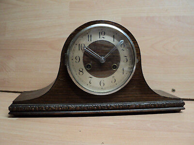 Vintage Oak, Coronet Napolean style Mantle clock, Good condition, spares/repairs
