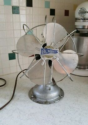 Vintage Robbins & Myers Electric Table Fan Tilt Works 8 1/2""